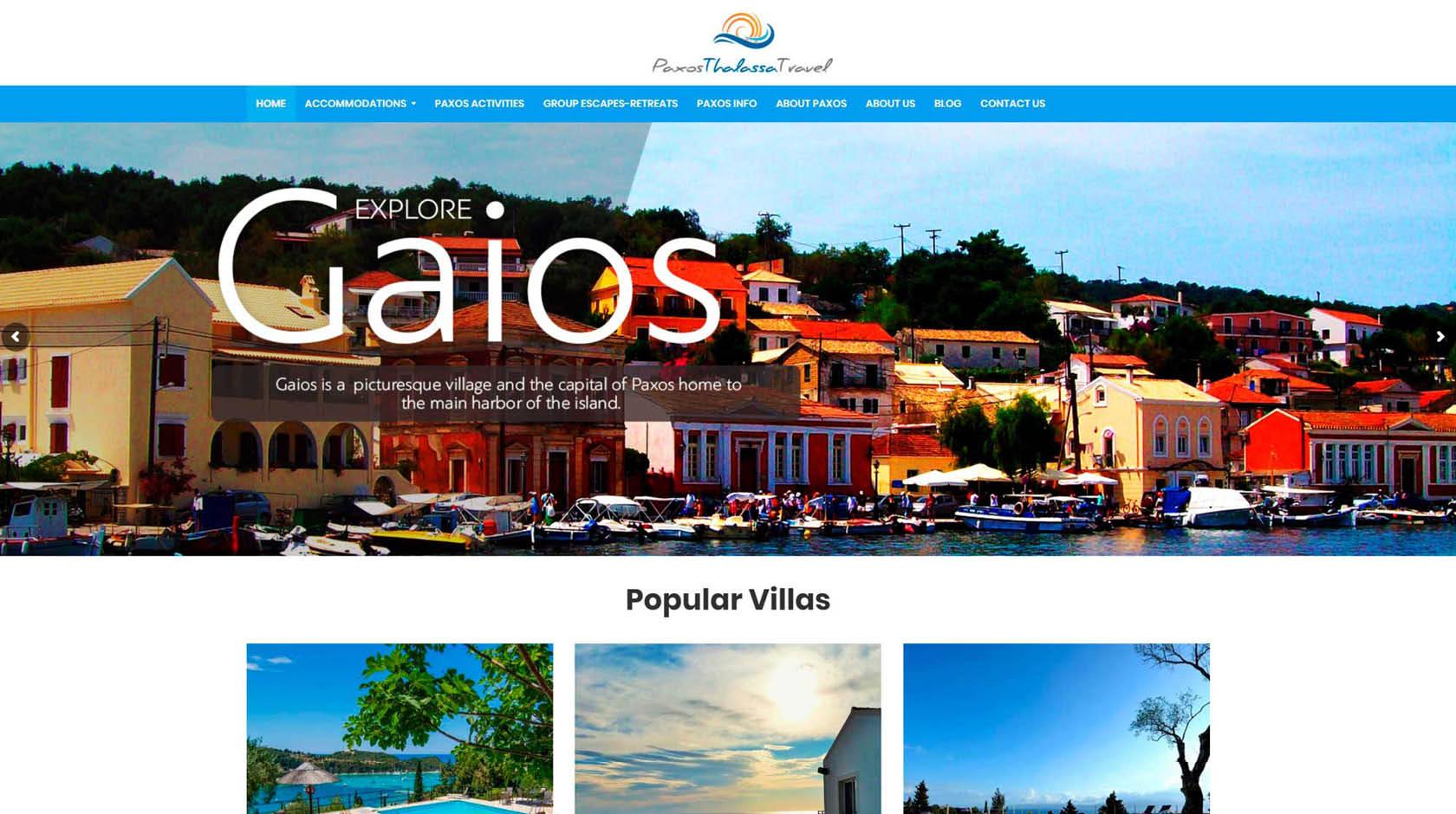 Paxos Thalassa Travel